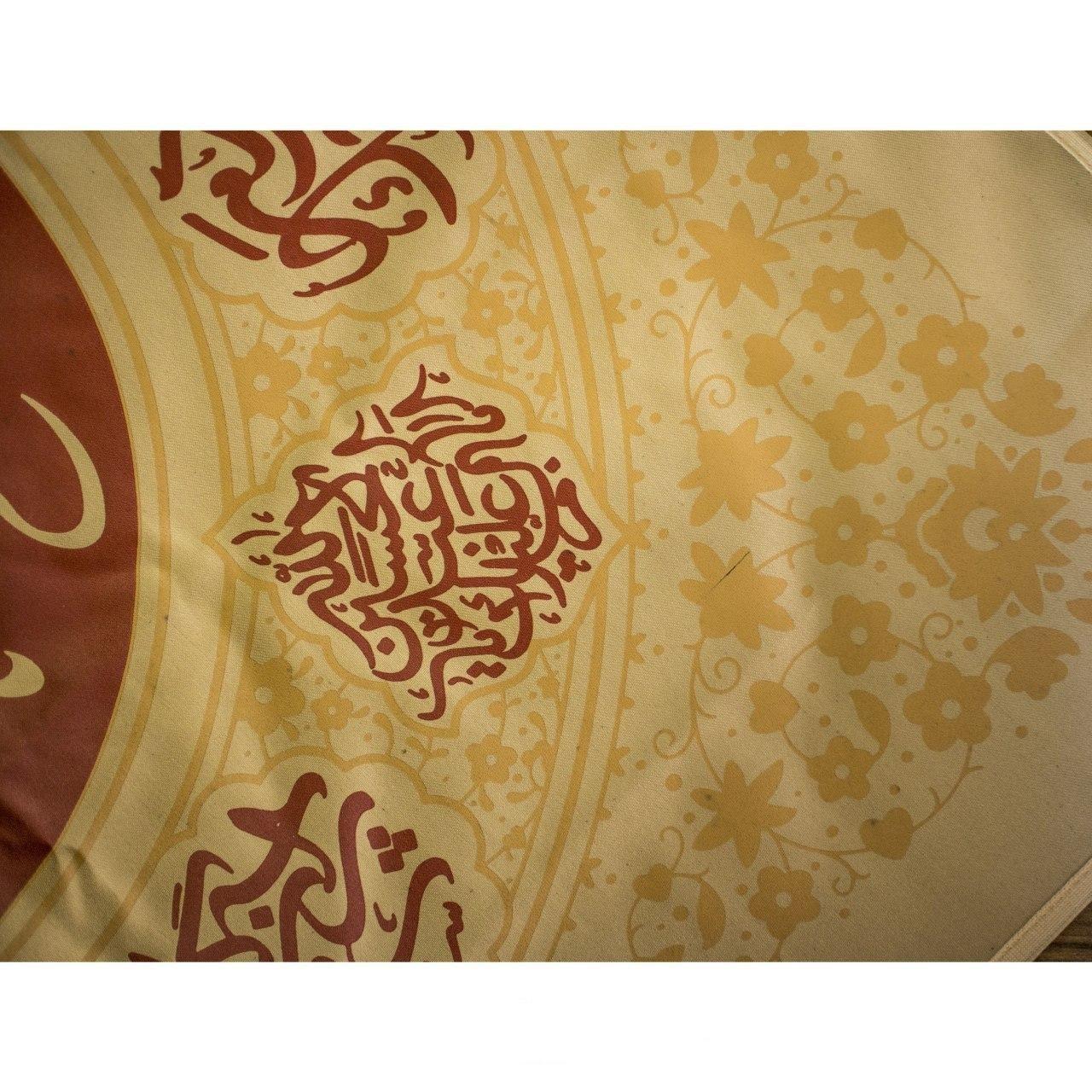 تصویر از بیرق اشک لوزی طرح «یا رقیه» پارچه کجراه  ۷۵×۷۵ سانتیمتر
