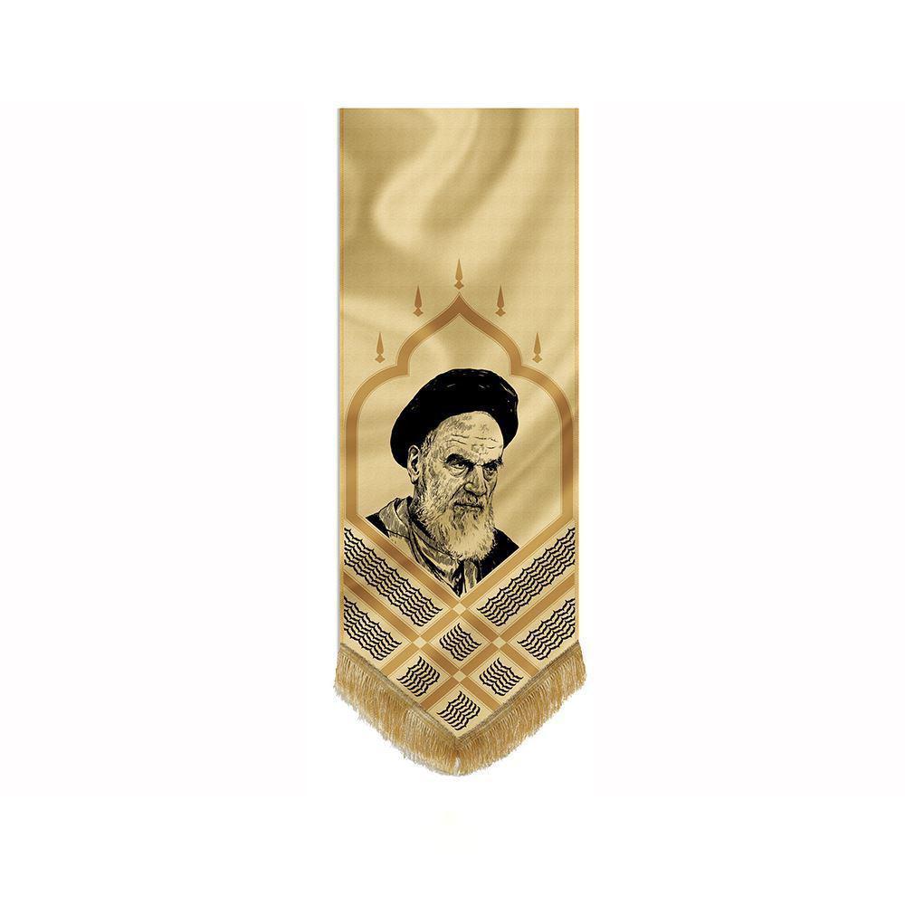 تصویر از بیرق طرح «تمثال امام خمینی» پارچه مخمل(50*140)