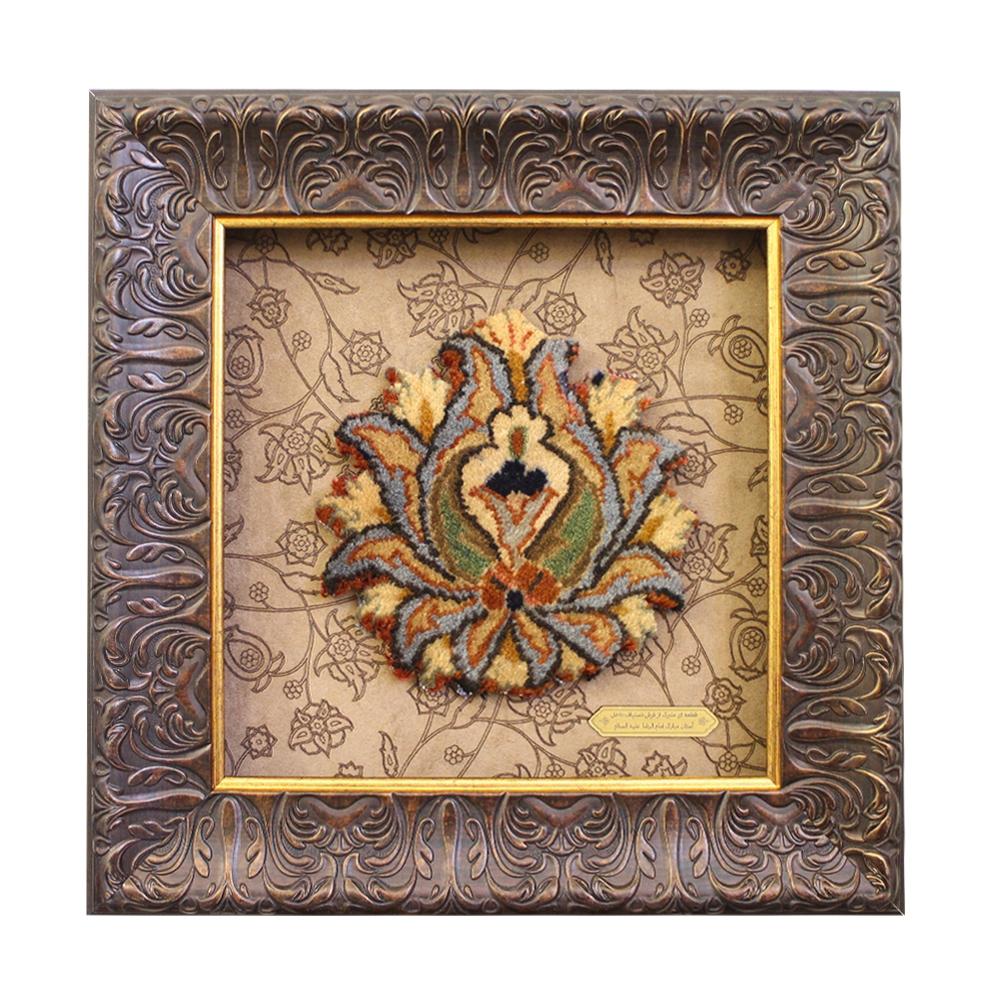 تصویر از قاب فرش گوهرشاد (۴۰×۴۰) - ترنج فرش دستباف حرم امام رضا علیهالسلام