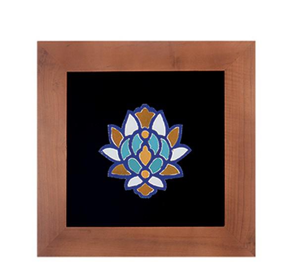 تصویر از تابلو کاشی معرق سلام مجموعه اکسیر طرح گل شاه عباسی ۴