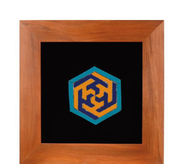 تصویر از تابلو کاشی معرق علی علیه السلام شش ضلعی