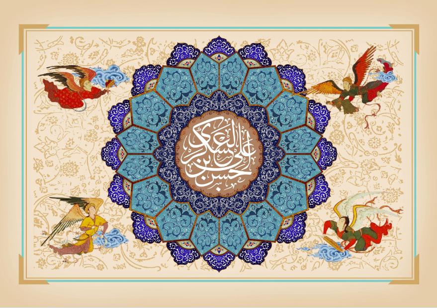 تصویر از پرچم امام حسن عسگری (ع) مدل0252
