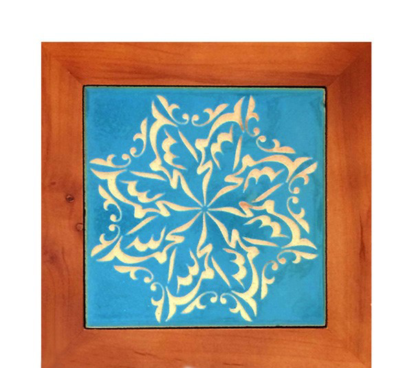 تصویر از تابلو کاشی مجموعه جلی طرح الحمدالله