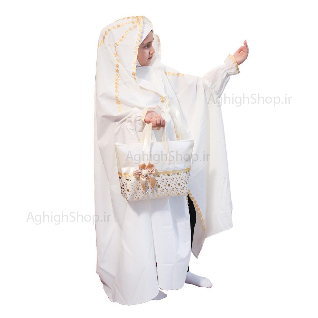تصویر از بسته حجاب جشن تكليف (مدل خورشيدي)