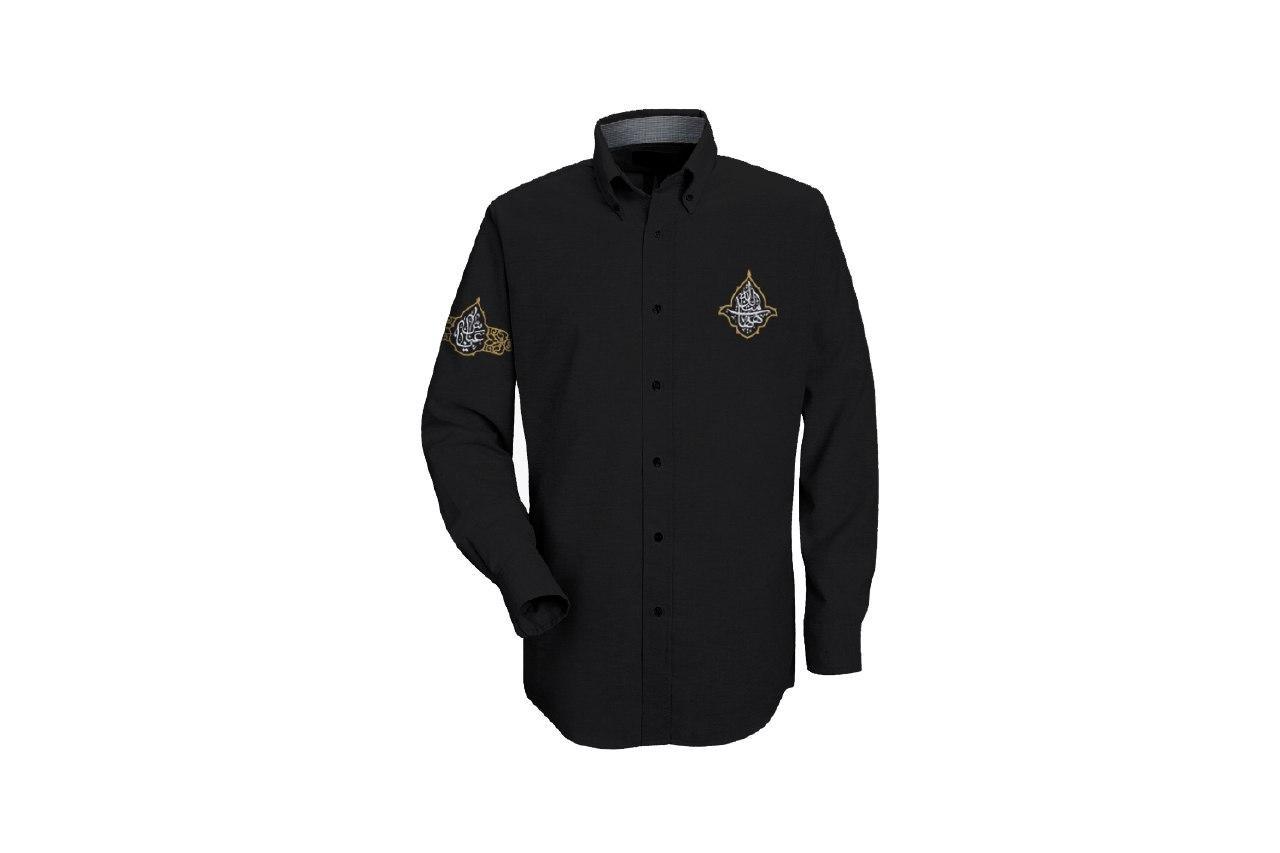 تصویر از پیراهن آستینبلند با گلدوزی روی آستین و سینه