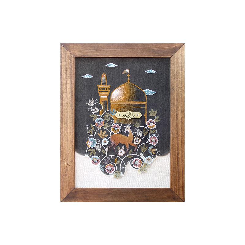 تصویر از قاب فرش گنبد امام رضا علیهالسلام