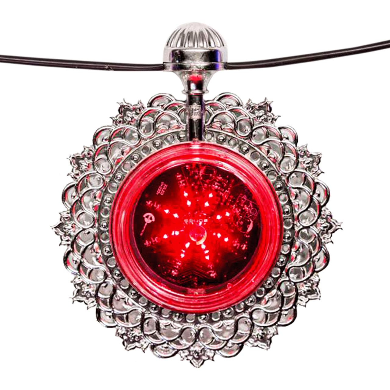 تصویر از تک شعله مدل خورشید تاب ( نقره ای ، قرمز )