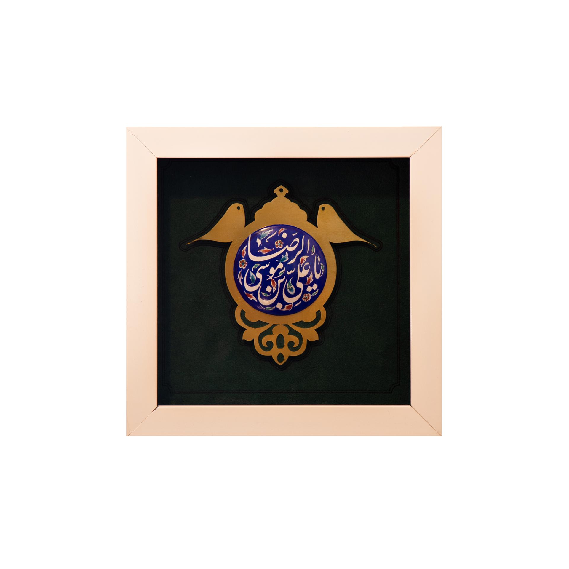 تصویر از قاب کبوترانه امام رضا(ع)
