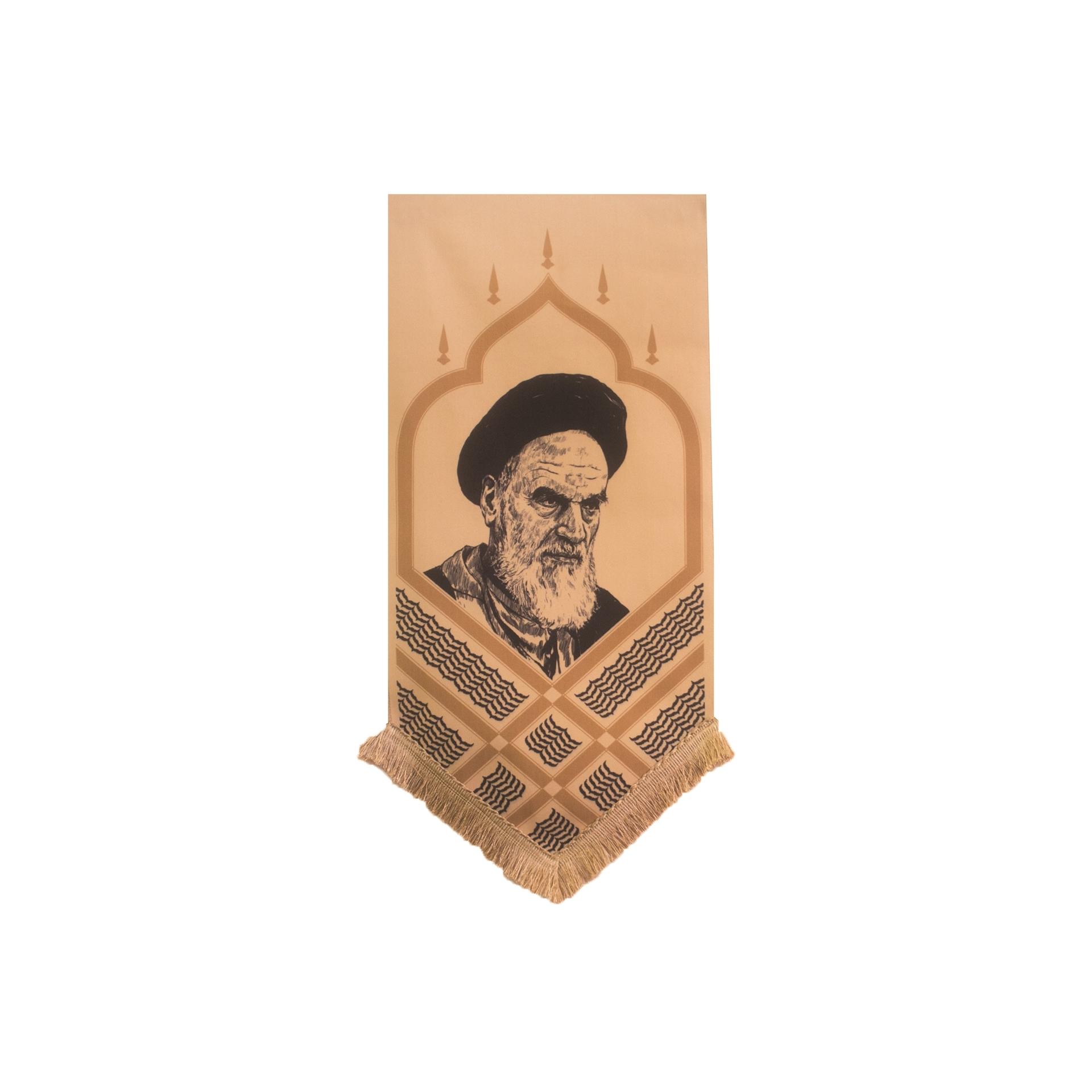 تصویر از بیرق خانگی تمثال امام خمینی