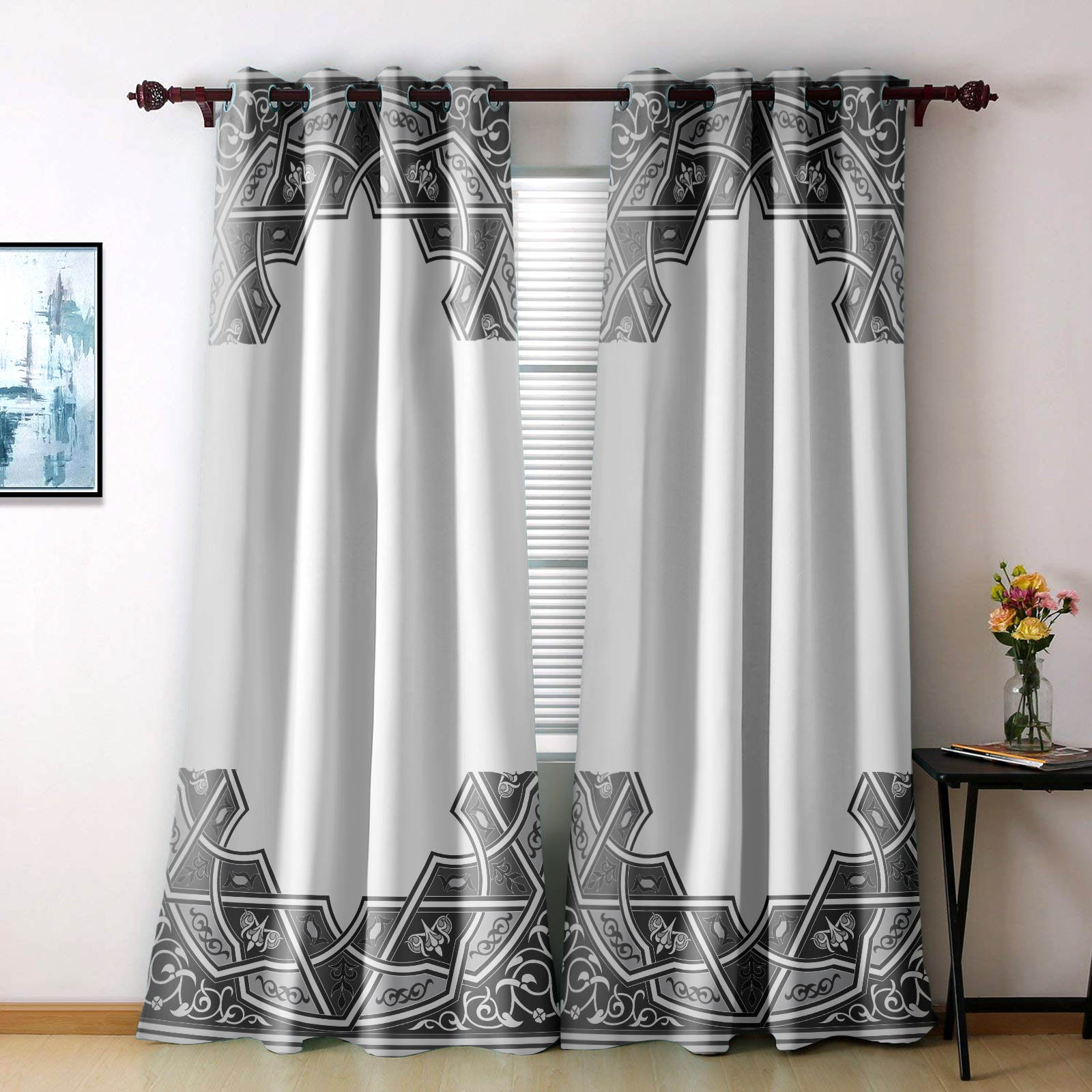 تصویر از پرده چاپی مدل curtain656